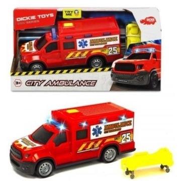 Dickie Toys ambulance karetka pogotowia dźwięk