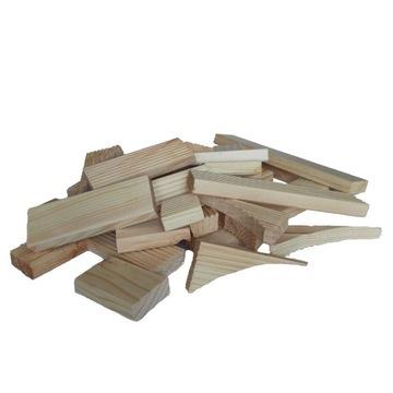 Suche klocki drewniane, ścinki sosnowe