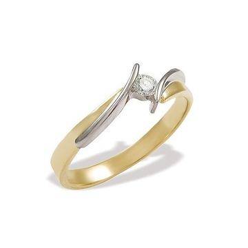 Pierścionek zaręczynowy z diamentem, rozmiar 16