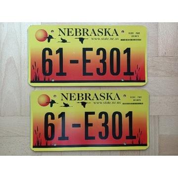 Para tablic ze stanu Nebraska USA