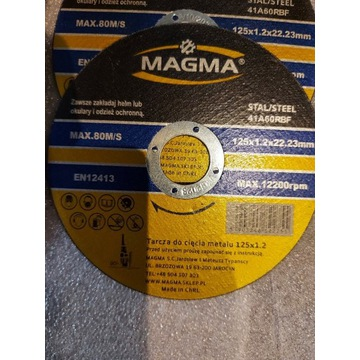 Tarcza do cięcia stali 125/1,2 MAGMA wysoka jakość