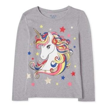 Childrens Place bluzeczka Girls Unicorn 7-8lat