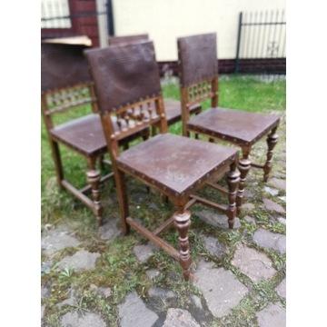 Krzesła wiedeńskie 8 szt antyki