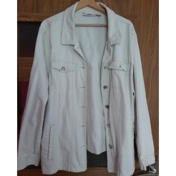 3 kurtki jeansowe i płaszcz rozm. 52