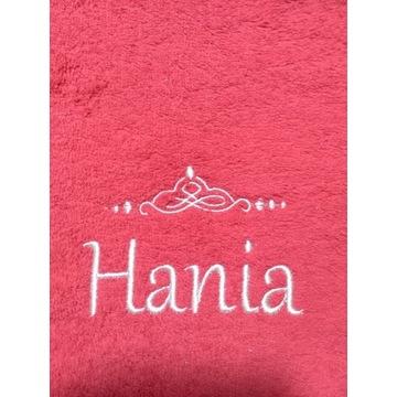 Ręcznik 30x50 z haftem imienia Hania