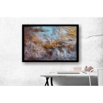 """Obraz ręcznie malowany """"Między niebem, a ziemią """""""