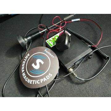 CB radio + antena + magnes pod antenę