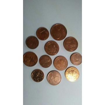 Zestaw monet Eurocent 12 szt.
