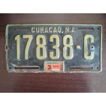 Curacao  tablica rejestracyjna oryginal