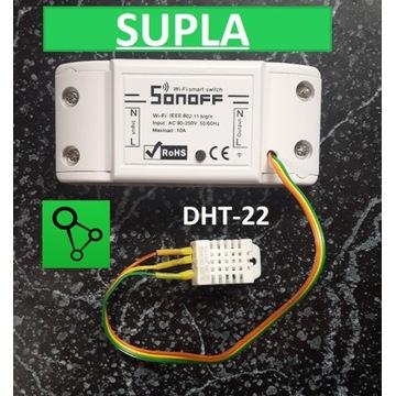 Supla Sonoff czujnikiem temp. i wilgotności DHT-22