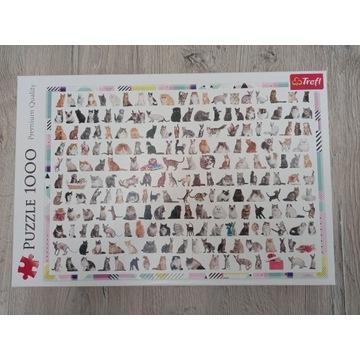 Puzzle 1000 elementów - 208 kotów TREFL