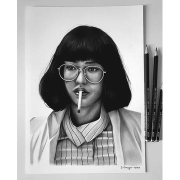 Dr Azumi - Maniac Rysunek portret na zamówienie A4