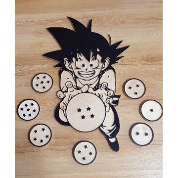 Drewniany Kid Goku Dragon Ball różne postacie