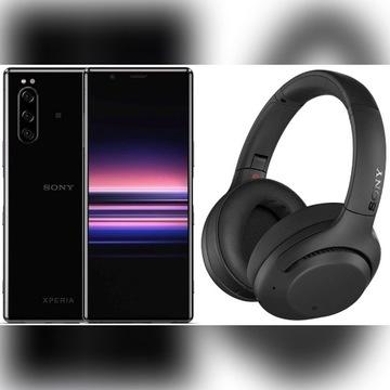 Smartfon Sony Xperia 5 czarny + Słuchawki