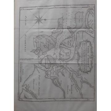 Stara mapa wybrzeża Afryki