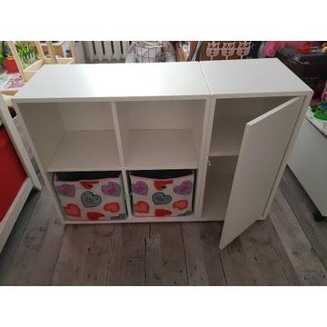 Zestaw 2 białych szafek seria EKET IKEA