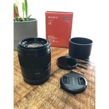 Obiektyw Sony E SEL50F18 OSS 50mm F1.8