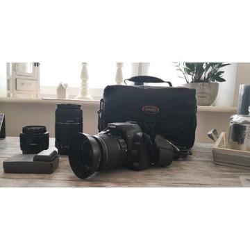 Canon EOS 400D kompletny zestaw. 3 obiektywy Canon