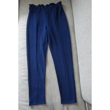SHEIN Granatowe spodnie z wysokim stanem rozm.M