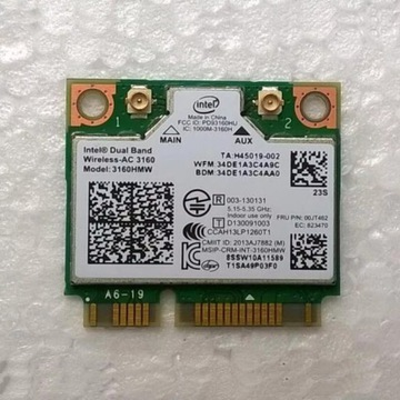 Karta WiFi Intel ac 3160
