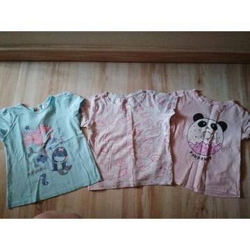 Bluzki T-shirt krótki rękaw r.92