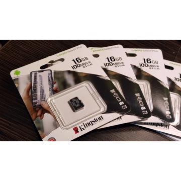 karta microSDHC KINGSTON Canvas Select Plus 16GB