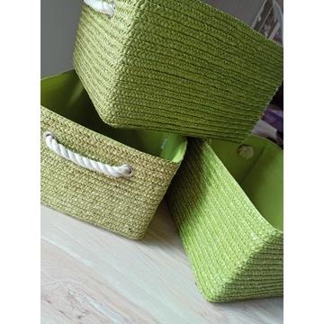 3 Zielone kosze LARS 32x27x20cm
