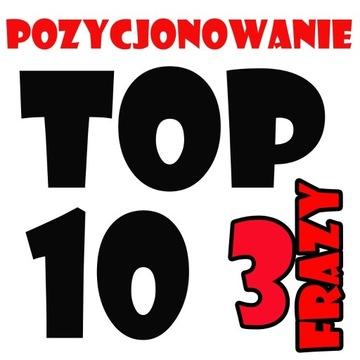 POZYCJONOWANIE SEO 3 frazy/ROK GWARANCJA TOP 10