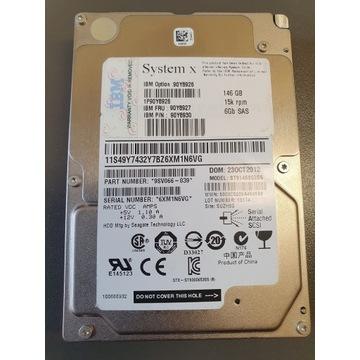 Dysk IBM 146 GB SAS 15k RPM PN: ST9146853SS