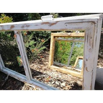 Lustro, stare okno. Hand made..
