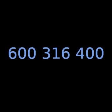 Złoty numer 600 316 400 t-mobile na kartę