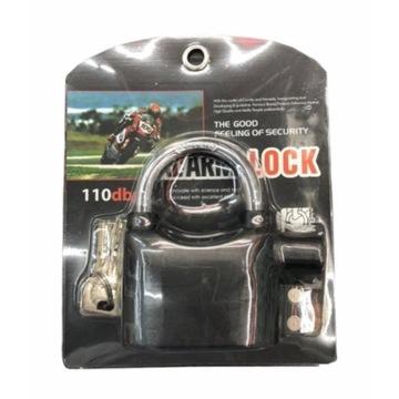 Kłódka Alarm 110 dB do motocykla , rower, itp.