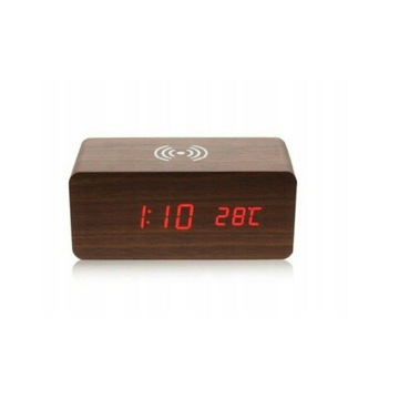 Zegarek z funkcją budzika i ładowania telefonu
