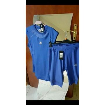 Koszulka +spodenki termoaktywne Adidas TF prep XL