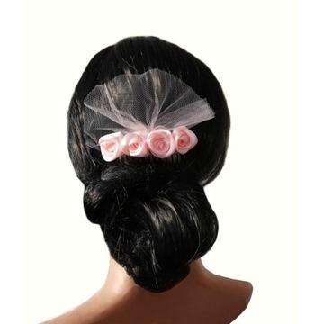 Stroik, ozdoba do włosów, różyczki