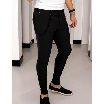 Spodnie Zara W31 (S - 40) Czarne Slim Fit 1309857