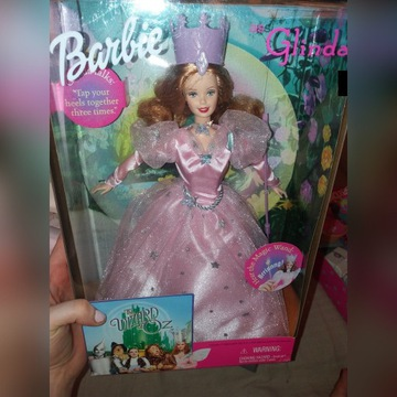lalka barbie  glinda wizard the oz  mattel Nrfb