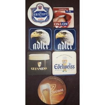 Podstawki mix wódka piwo Cin&cin Guinness Adler