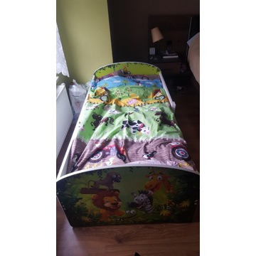 Łóżko dziecięce + materac + 2 kpl poszewek+pościel