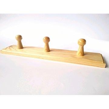 wieszak drewniany wiszący ścienny 29 cm