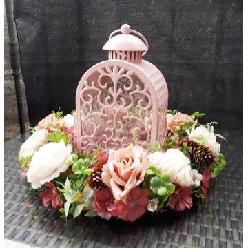 Stroik na grób wianek dekoracja nagrobna róża 33cm