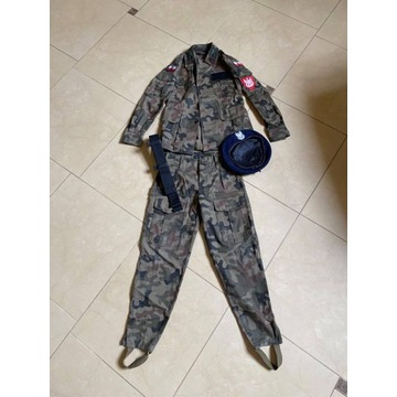 Mundur wojskowy harcerski komplet dla dziecka