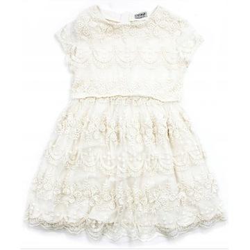 Sukienka koronkowa ecru NEXT 122 7 lat