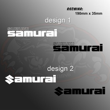 Naklejka Suzuki Samurai 190mm x 35mm