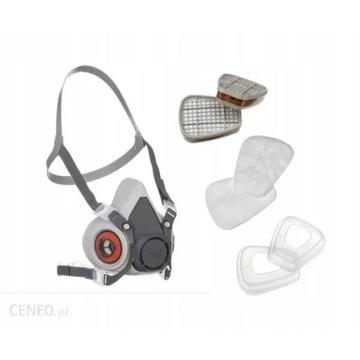 Maska 6300 chemiczn lakiernicza 3M zestaw,ABEK6059