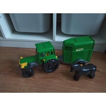Traktor Farmer Wader z przyczepą i koniem