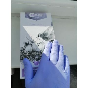 Rękawiczki nitrylowe bezpudrowe  10 Par Rozm. L