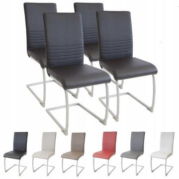 Krzesło  MURANO, zestaw 4 szt., Czarne