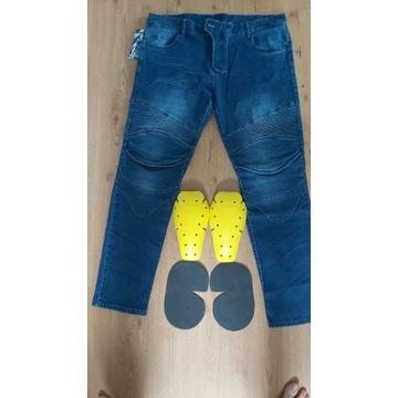 Spodnie jeansowe motocyklowe r.XL,2XK,3XL