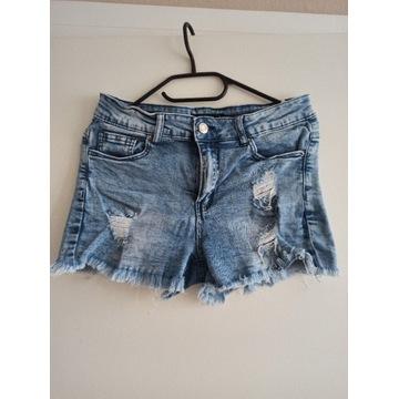 Szorty spodenki damskie jeansy Sinsay r. M